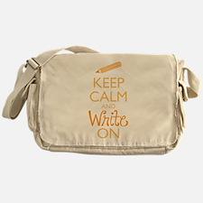 Keep Calm and Write On Messenger Bag