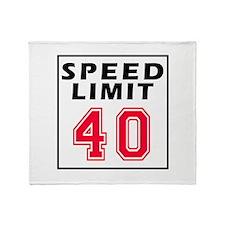 Speed Limit 40 Throw Blanket