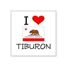 I Love Tiburon California Sticker