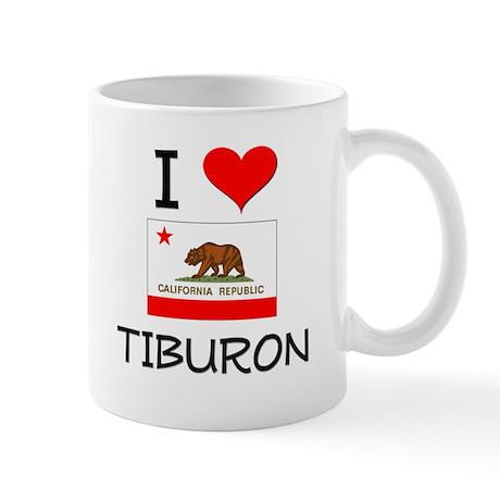 I Love Tiburon California Mugs