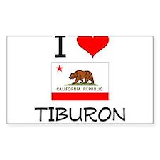 I Love Tiburon California Decal