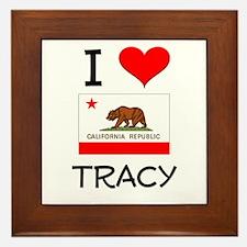 I Love Tracy California Framed Tile