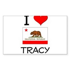 I Love Tracy California Decal
