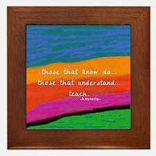 teacher aristotle Quote DUVET Framed Tile