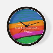teacher aristotle Quote DUVET Wall Clock