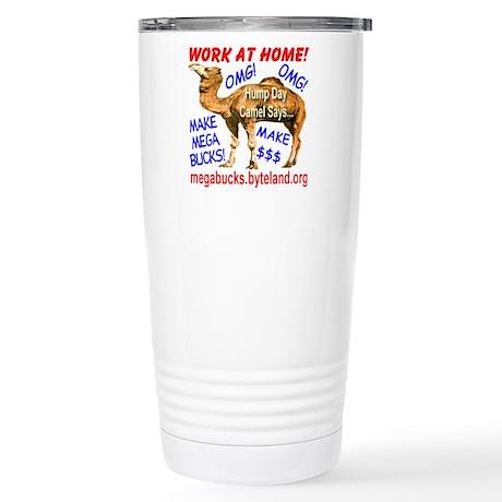 MegaBucks Camel Stainless Steel Travel Mug