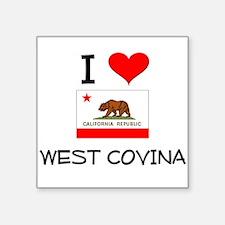 I Love West Covina California Sticker