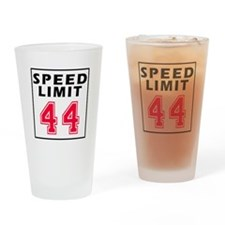 Speed Limit 44 Drinking Glass
