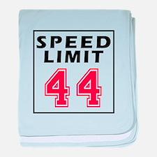 Speed Limit 44 baby blanket
