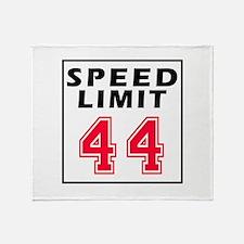 Speed Limit 44 Throw Blanket