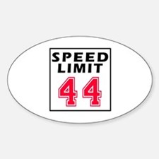 Speed Limit 44 Decal