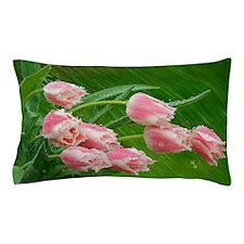 Pink Tulip Flowers Pillow Case