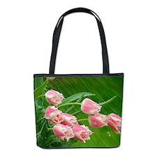 Pink Tulip Flowers Bucket Bag