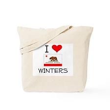 I Love Winters California Tote Bag