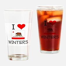 I Love Winters California Drinking Glass