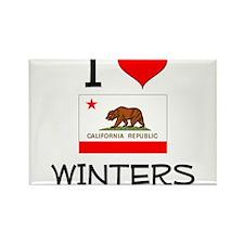 I Love Winters California Magnets