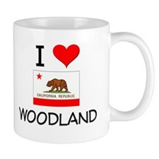 I Love Woodland California Mugs