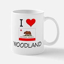 I Love Woodland California Mugs