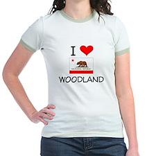 I Love Woodland California T-Shirt