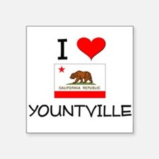 I Love Yountville California Sticker