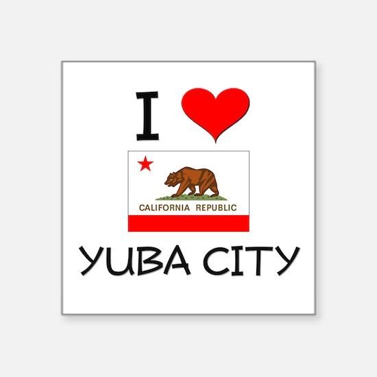 I Love Yuba City California Sticker