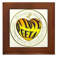 I Love Peeta Heart Framed Tile
