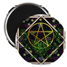 Wiccan Pentacle and Greens Magnet