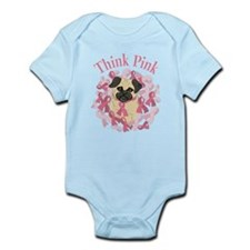 Think Pink Pug Body Suit
