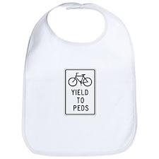 Bicycles Yield to Peds - USA Bib