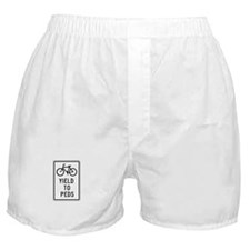 Bicycles Yield to Peds - USA Boxer Shorts