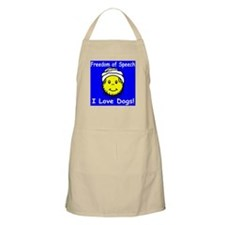 I Love Dogs! Smiley BBQ Apron