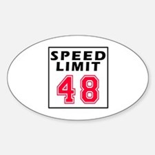 Speed Limit 48 Decal