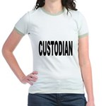 Custodian (Front) Jr. Ringer T-Shirt