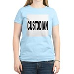 Custodian (Front) Women's Pink T-Shirt