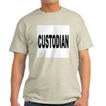 Custodian (Front) Ash Grey T-Shirt