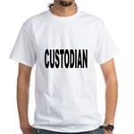 Custodian (Front) White T-Shirt