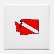 Washington Scuba Diver Tile Coaster