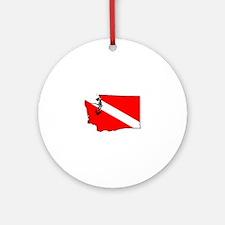 Washington Scuba Diver Round Ornament