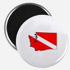 Washington Scuba Diver Magnet