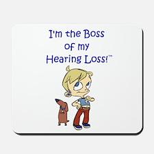 I wear my hearing aids Mousepad