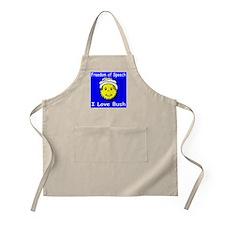 I Love Bush Smiley BBQ Apron
