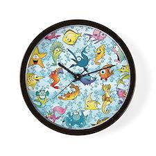 Fun Fish Wall Clock