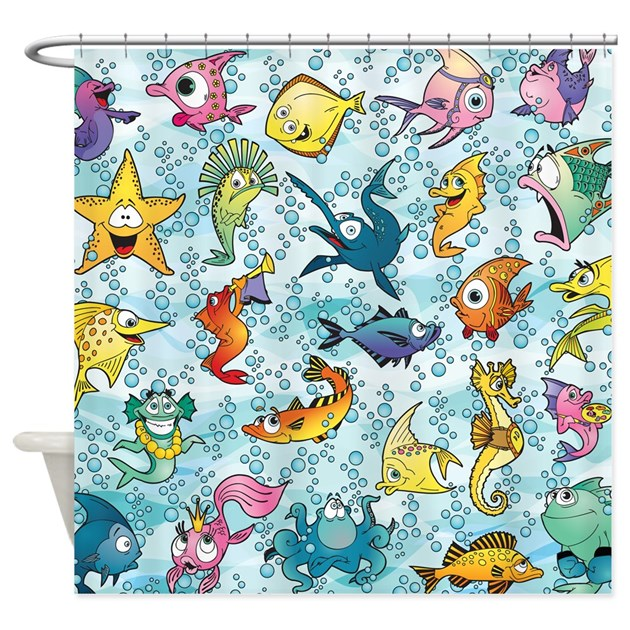 Fun Fish Shower Curtain By Littlefunshop