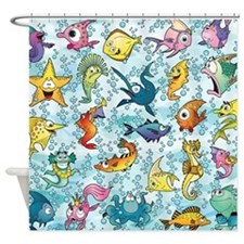 Fun Fish Shower Curtain