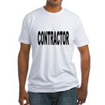 Contractor (Front) Fitted T-Shirt