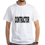 Contractor (Front) White T-Shirt