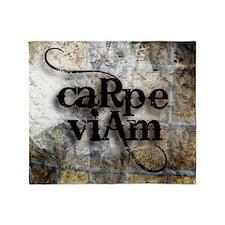 Carpe Viam Throw Blanket