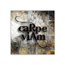 "Carpe Viam Square Sticker 3"" x 3"""