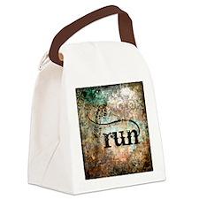 Run by Vetro Designs Canvas Lunch Bag