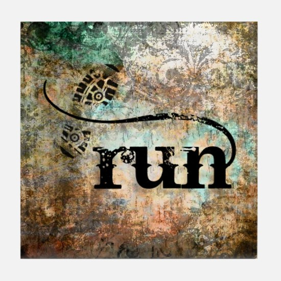 Run by Vetro Designs Tile Coaster